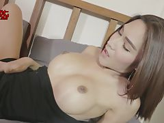 Sexy Jessie is a hot Bangkok tgirl with an amazing body, big tits, a great ass and a sexy hard cock! Enjoy this horny transgirl jacking her hard cock!
