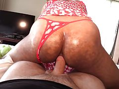 Winnie`s asshole is pumped hard & fast with bareback dick. As it starts to cum the POV cock withdraws to spurt hot spunk all over the open hole. Winnie`s ass gapes wildly as the cum drips out of her prolapsed backdoor.