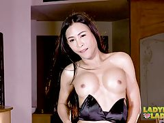 Pang is one of those tgirls whose body seemed built for a great fuck. She has cute eyes and and big tits. This sweet sexy ladyboy just can`t get enough of flirting with her hot body. She`s always ready for a naughty time. Watch this cum hungry vixen as sh