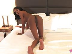 Mya Badd is back and boy does she have a belter for us! This gorgeous Grooby girl brought all the heat in this sexy climactic scene! Enjoy her creamy cumshot!
