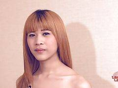 Eve is an stunning ladyboy from Bangkok who just turned 18. She has a very cute face, long blonde hair, long legs to die for, sexy feet, hormone tits, sexy ass and a great uncut cock with nice balls.