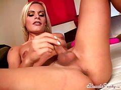 Incredible tranny/female/male threeway video
