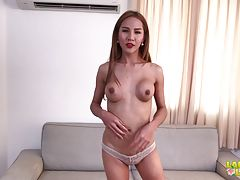 Tan is a bit of a homebody, but don`t let her shy persona fool you. She has no issues sharing her body with you and let`s you know she`s ready for action with her throbbing hard cock and toned body.