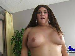Lisa Lovely is a horny transgirl with a sexy thick body, big boobs, a juicy ass and a rock hard cock! Watch this sexy tgirl shaking her ass and stroking her hard dick!