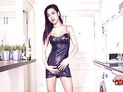 Ann is a sexy petite Bangkok transgirl with a smoking hot body, nice tits and a sexy uncut cock! See this stunning tgirl stroking her hard cock for you!