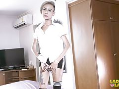 Blonde hottie Rola is back and she looks so cute and sexy as she dresses up and gets ready to play. This little doll just can`t live without having fun and getting naughty for the camera! Soon enough you will be seeing her slim legs, cute ass and titties
