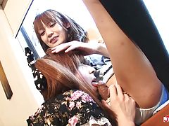 Hot and sexy tgirls Hiromi and Yuki are having a lot of fun with their lesbian affair. Watch them suck each other, lick each other before they fuck!