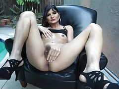 Discovered by Buddy Wood in 2016, Monica Raven started off on TS Casting Couch, moved on to be a Femout favorite and today she officially makes her Grooby Girls debut! She�s always had a hot and seductive look with some amazing dick sucking lips, those be