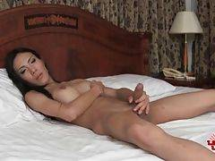 Pretty Asian She-Male Does Hot Solo Show 1