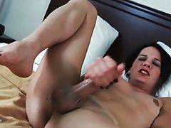 Cute She-Male Gina Hart Does Hot Solo 1