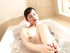 Sayuri looks very lovely with glamorous hair and makeup. This gorgeous and sexy post op tgirl has a lot of fun in her red lingerie before she gets into the bathtub and lathers her nice body for you to enjoy.