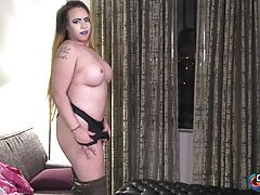 Brittany Bella is back! We haven`t seen this thick Texan beauty for more than a year! It`s nice to have her back! Brittany was introduced to us by Omar and she made her debut in 2015. She can`t wait to show you her curvy body and her big boobs! Watch her