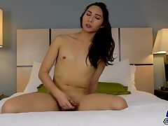 Sexy Lexi barbie is a hot slim tgirl with an amazing body, small sexy tits, a nice bubble butt and a rock hard cock! Watch this horny Grooby girl showing off her sexy bubble butt and stroking her hard cock!