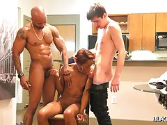Tiny Tara is a smoking hot tgirl who let these lucky studs Soldier Boi and Tayden to fuck her hard. These studs take turns in banging Tiny Tara and they definitely had fun specially when they splashes their cum into her. See for yourself to enjoy.