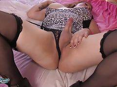 Amber Action is a hot curvy transgirl with a sexy thick body, huge boobs, a big juicy ass and a hard cock! See this horny tgirl jacking off and cumming!