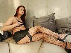 Makoto has a lot of good qualities, charming personality, great body, and a very big cock as well. This sexy young model is showing her stuff just for you, we hope you enjoy.