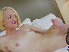Horny transgirl jacking her big dick for you!