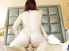 Stunning sexkitten Cherry Mavrik has a smoking hot body, sexy full breasts, a juicy round ass and a rock hard cock! See this horny tgirl getting a hot blowjob from her man Steezo before he fucks that delicious butt hard and cums on her face!