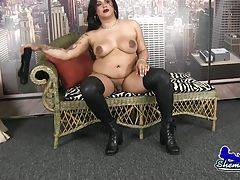 Leah Nova is a sexy thick bodied tgirl with a juicy ass, big boobs and a hard cock! See this horny transwoman shaking her ass and stroking her hard cock!